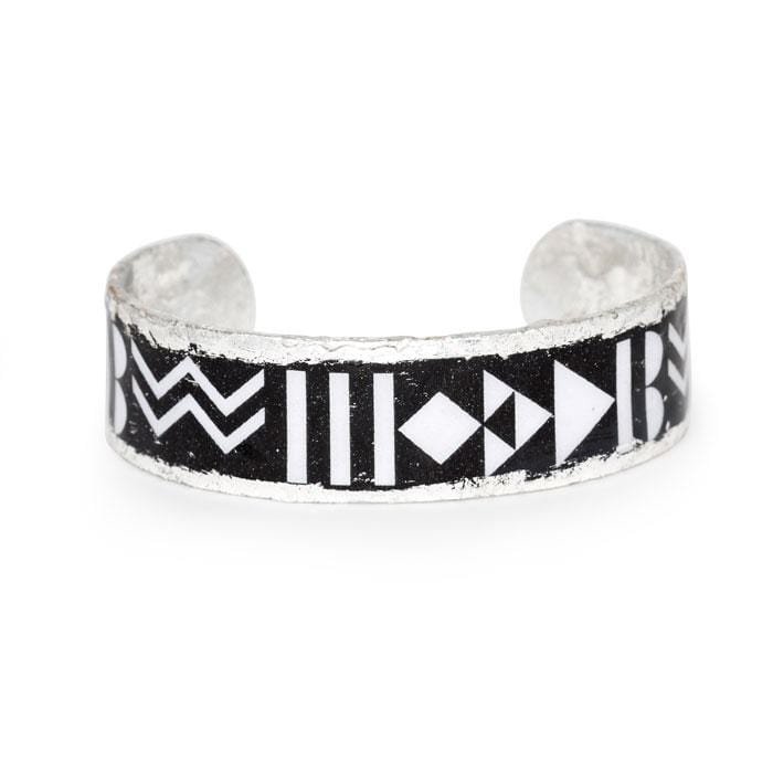 "Geometry ""B"" Cuff - BW102-Evocateur-Renee Taylor Gallery"
