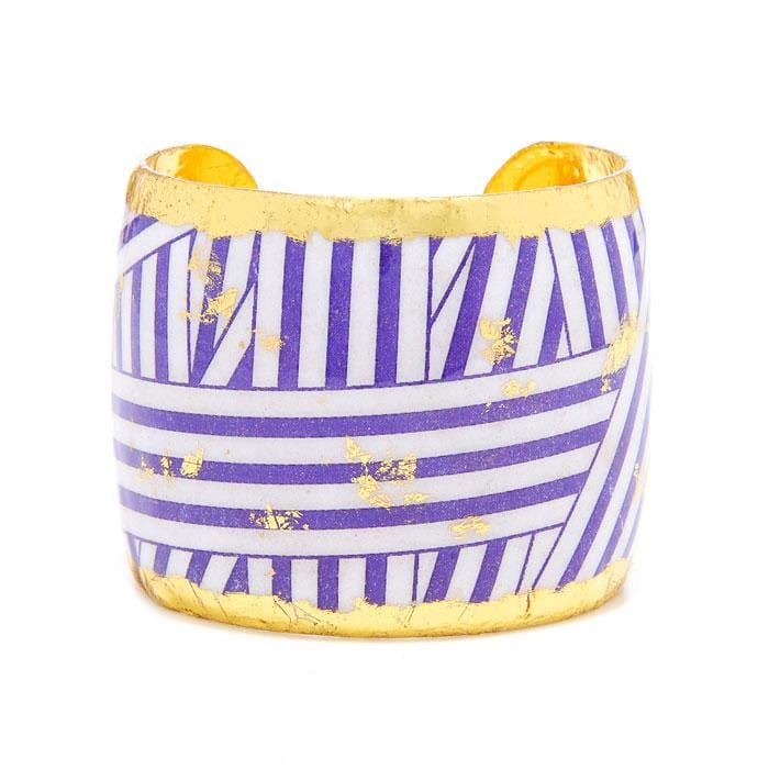 Wrapped Ribbon Purple Cuff - BW130-Evocateur-Renee Taylor Gallery