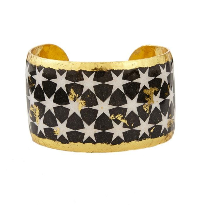 Black & White Stars Cuff - BW132-Evocateur-Renee Taylor Gallery
