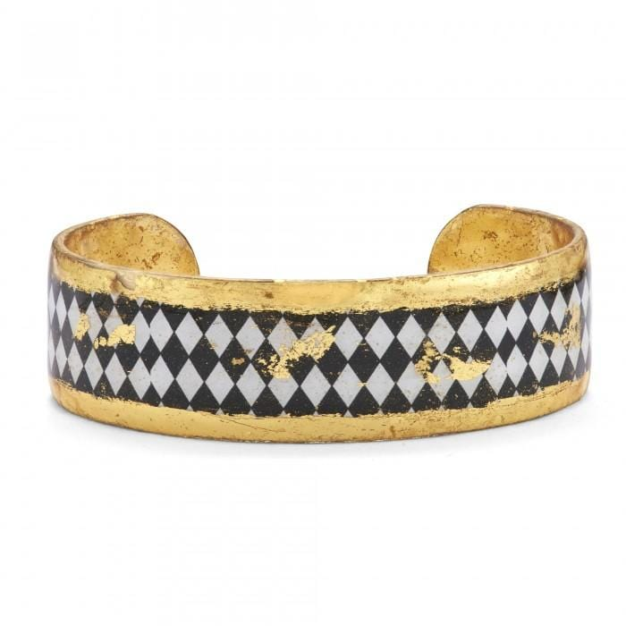 Harlequin Black & White Cuff - BW171-75-Evocateur-Renee Taylor Gallery