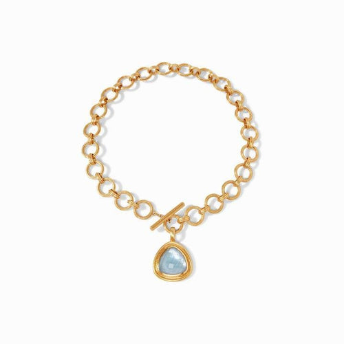 Barcelona Statement Gold Iridescent Clear Crystal Necklace - N350GIRC00-Julie Vos-Renee Taylor Gallery