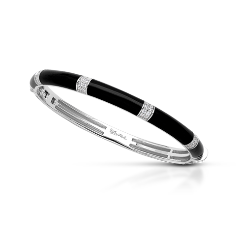 Barre Black Bangle-Belle Etoile-Renee Taylor Gallery