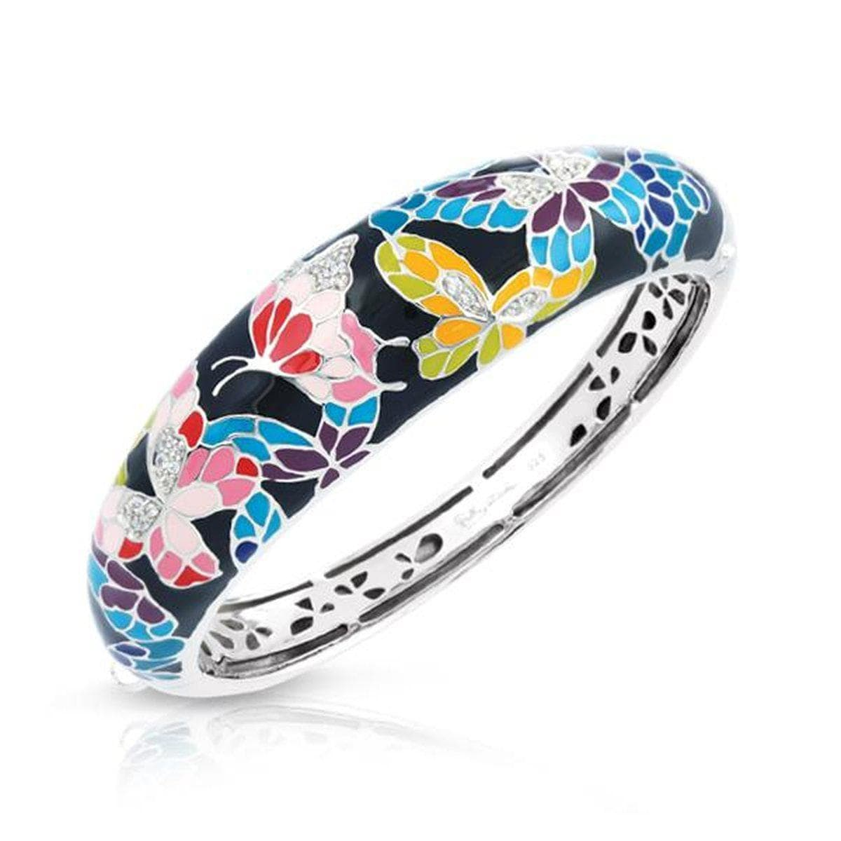 Butterfly Kisses Black Bangle-Belle Etoile-Renee Taylor Gallery