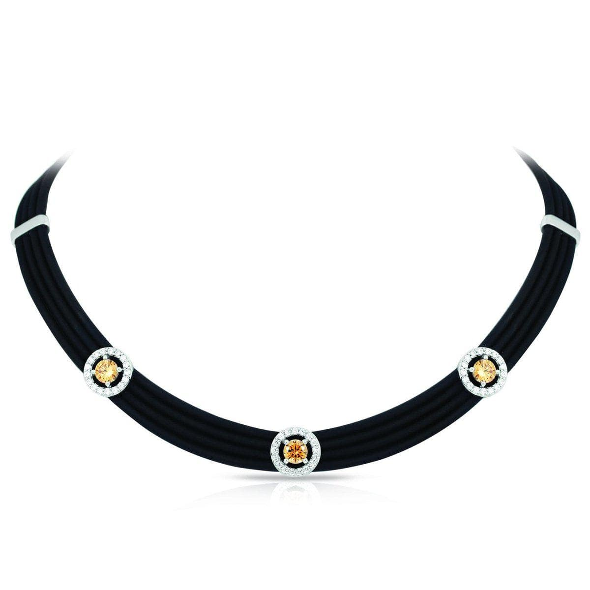 Circa Black and Champagne Necklace-Belle Etoile-Renee Taylor Gallery