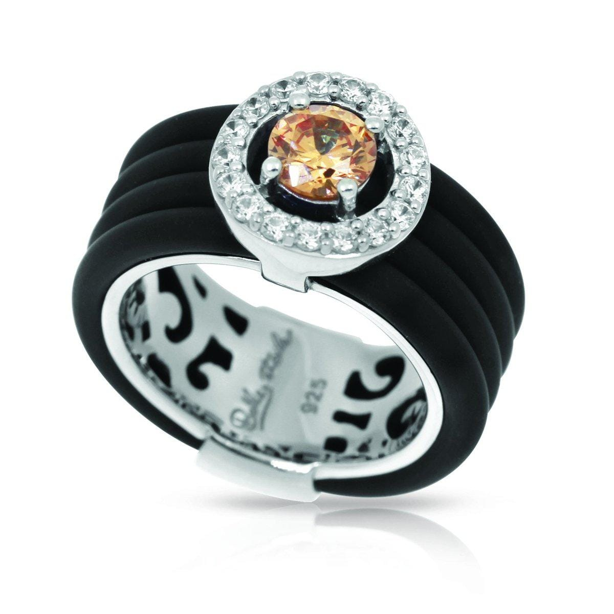 Circa Black and Champagne Ring-Belle Etoile-Renee Taylor Gallery