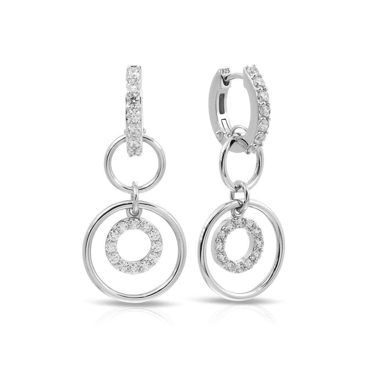 Concentra White Earrings-Belle Etoile-Renee Taylor Gallery
