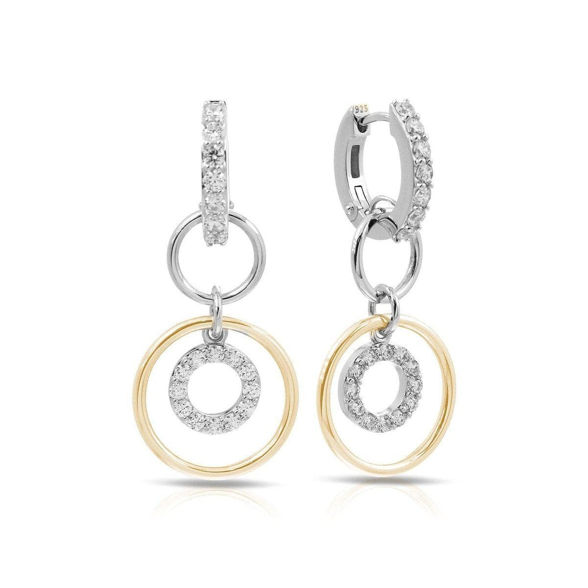 Concentra White and Yellow Earrings-Belle Etoile-Renee Taylor Gallery
