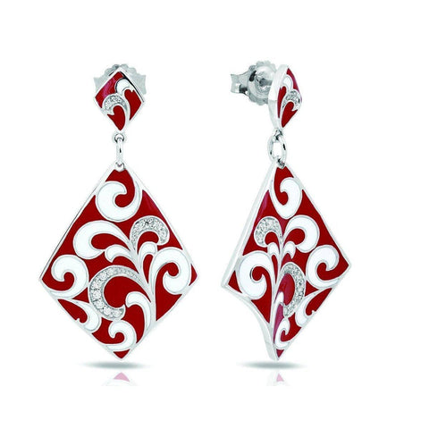 Contessa Red Earrings-Belle Etoile-Renee Taylor Gallery