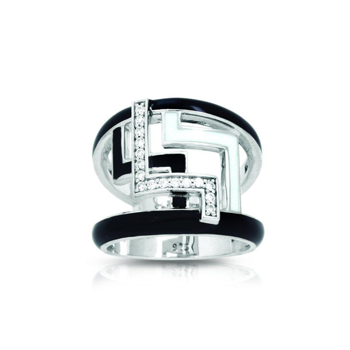 Convergence Black and White Ring-Belle Etoile-Renee Taylor Gallery