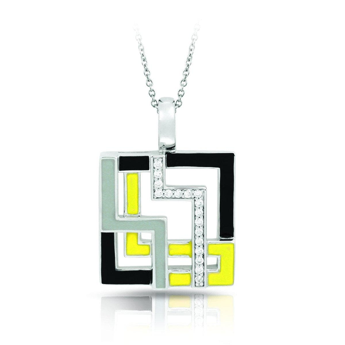 Convergence Yellow and Grey Pendant-Belle Etoile-Renee Taylor Gallery