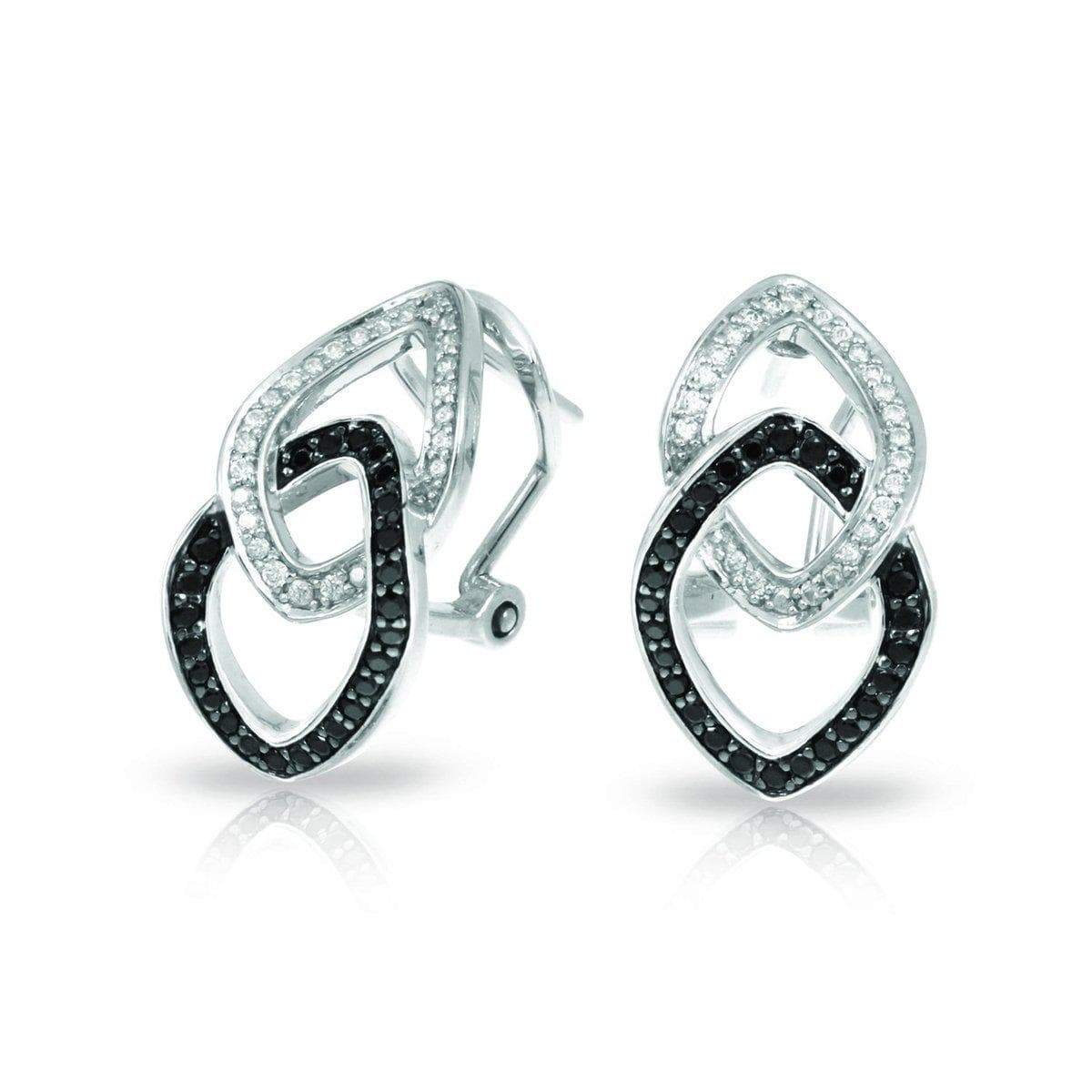 Duet Black and White Earrings