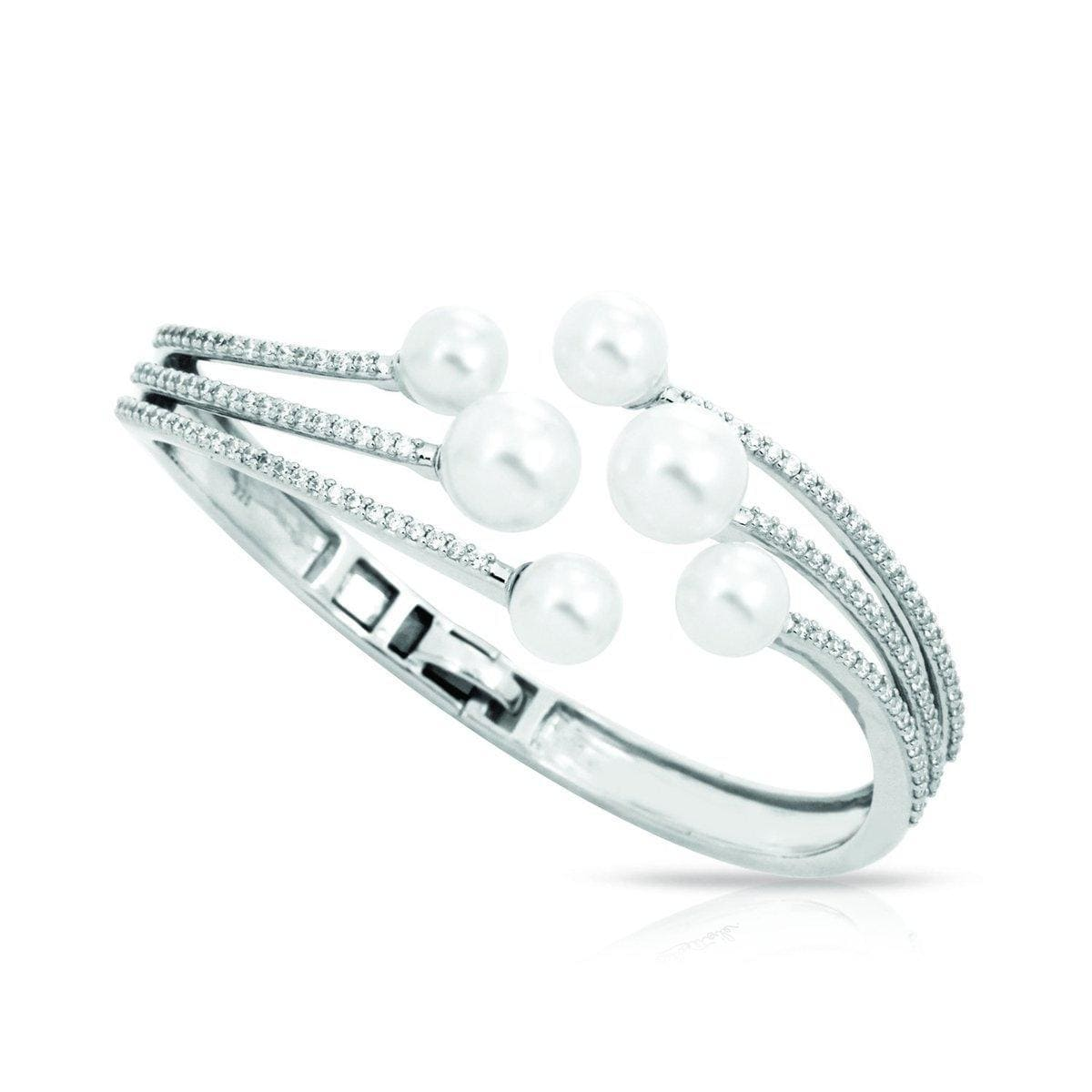 Effervescence White Bangle-Belle Etoile-Renee Taylor Gallery
