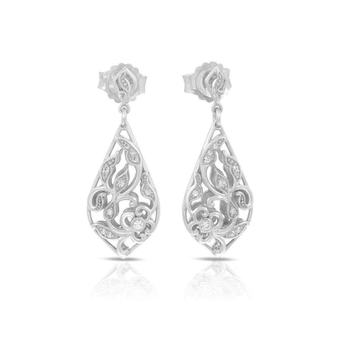 Empress Silver Earrings-Belle Etoile-Renee Taylor Gallery