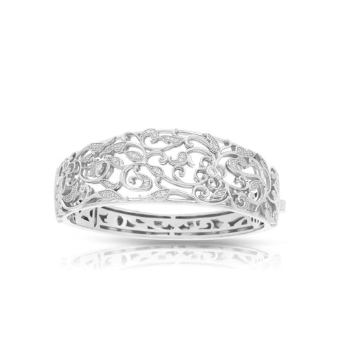 Empress Silver Bangle-Belle Etoile-Renee Taylor Gallery