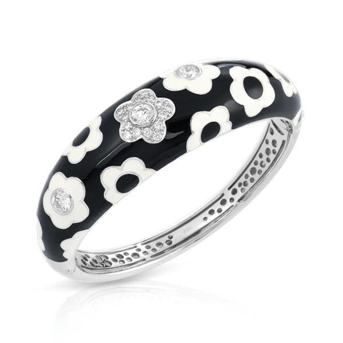 Fleur Black Bangle