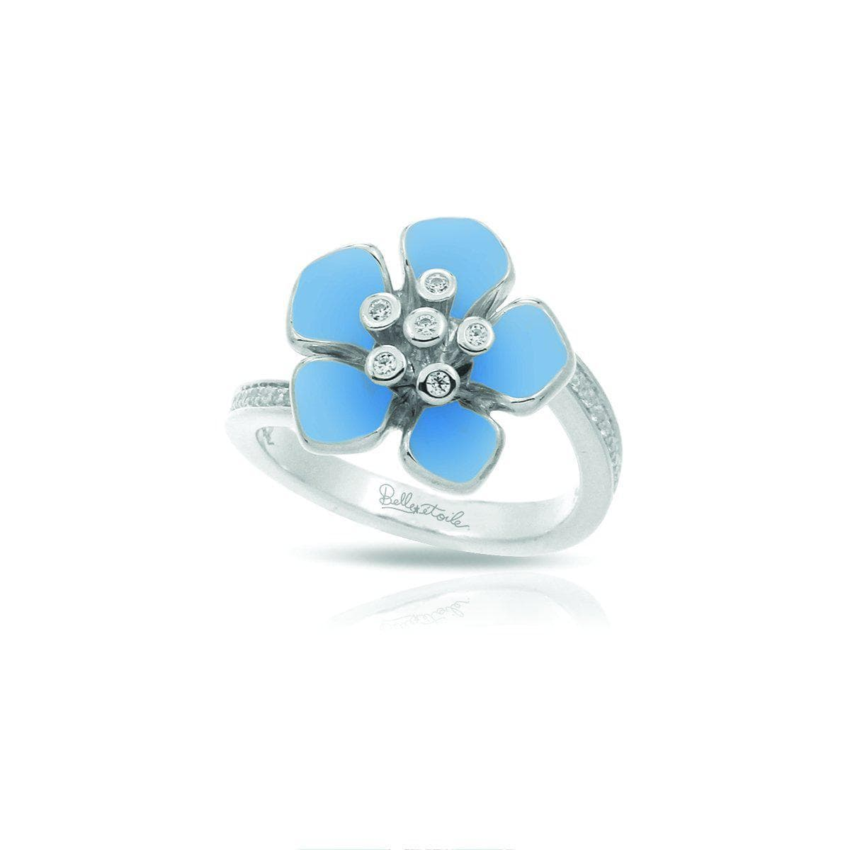 Forget-Me-Not Serenity Blue Ring-Belle Etoile-Renee Taylor Gallery