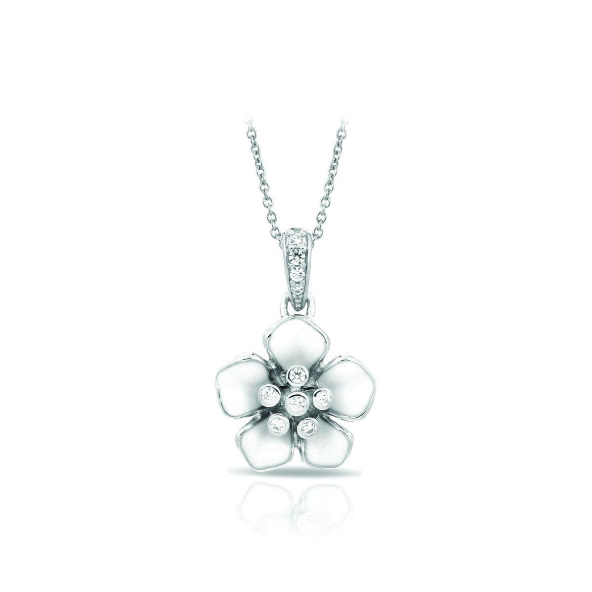 Forget-Me-Not White Pendant-Belle Etoile-Renee Taylor Gallery