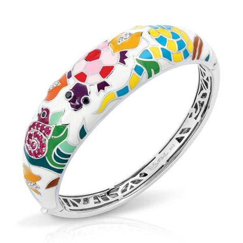 Galapagos White Bangle-Belle Etoile-Renee Taylor Gallery