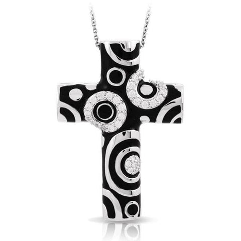 Galaxy Black Cross Pendant-Belle Etoile-Renee Taylor Gallery
