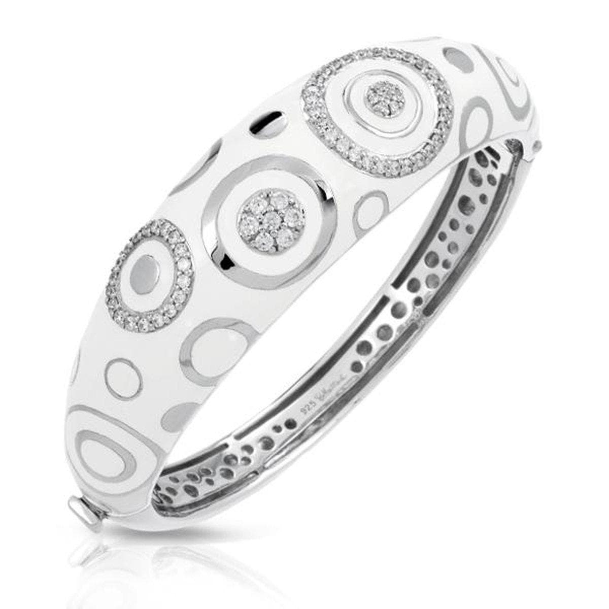 Galaxy White Bangle-Belle Etoile-Renee Taylor Gallery