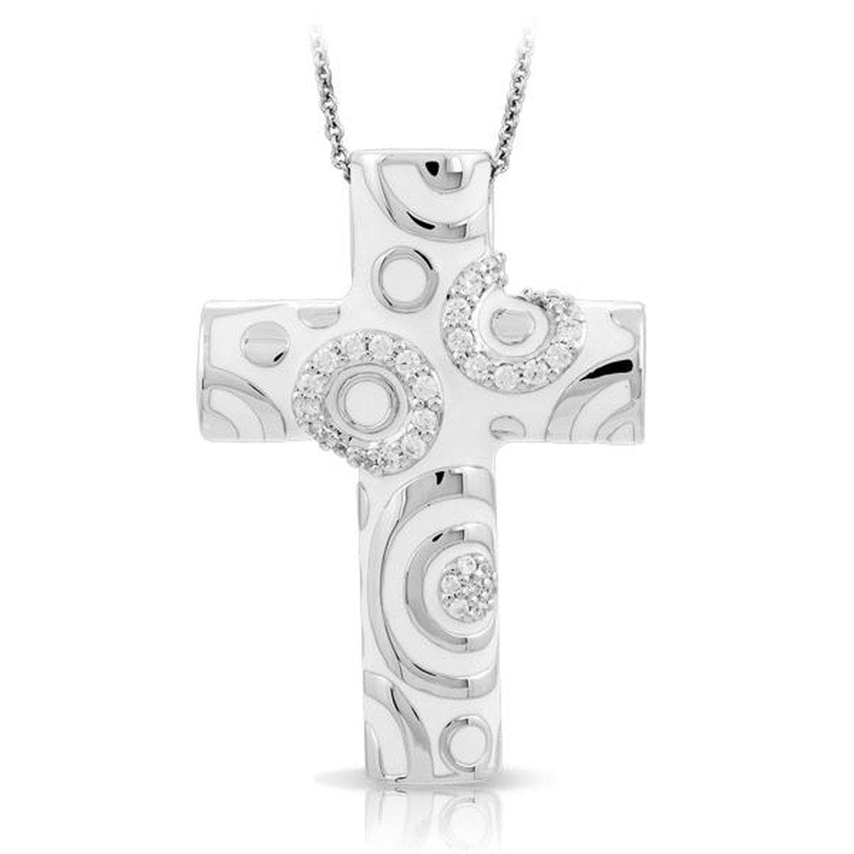 Galaxy White Cross Pendant-Belle Etoile-Renee Taylor Gallery