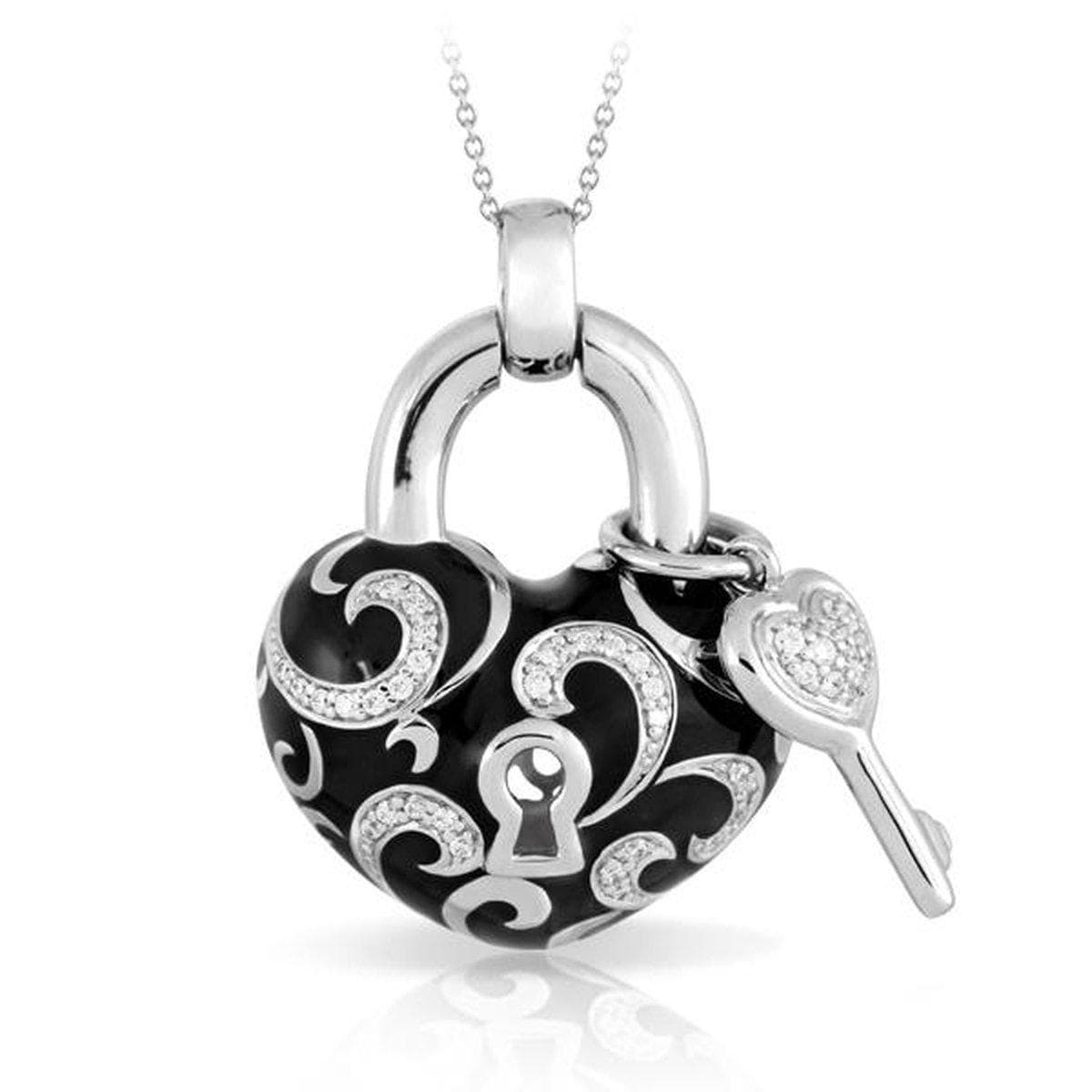 Key to My Heart Black Pendant - Belle Etoile