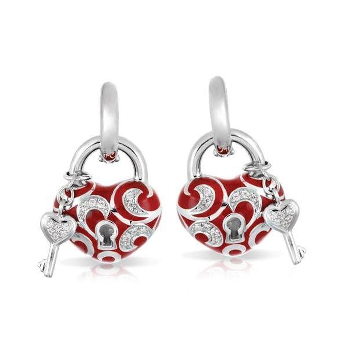 Key to My Heart Red Earrings-Belle Etoile-Renee Taylor Gallery