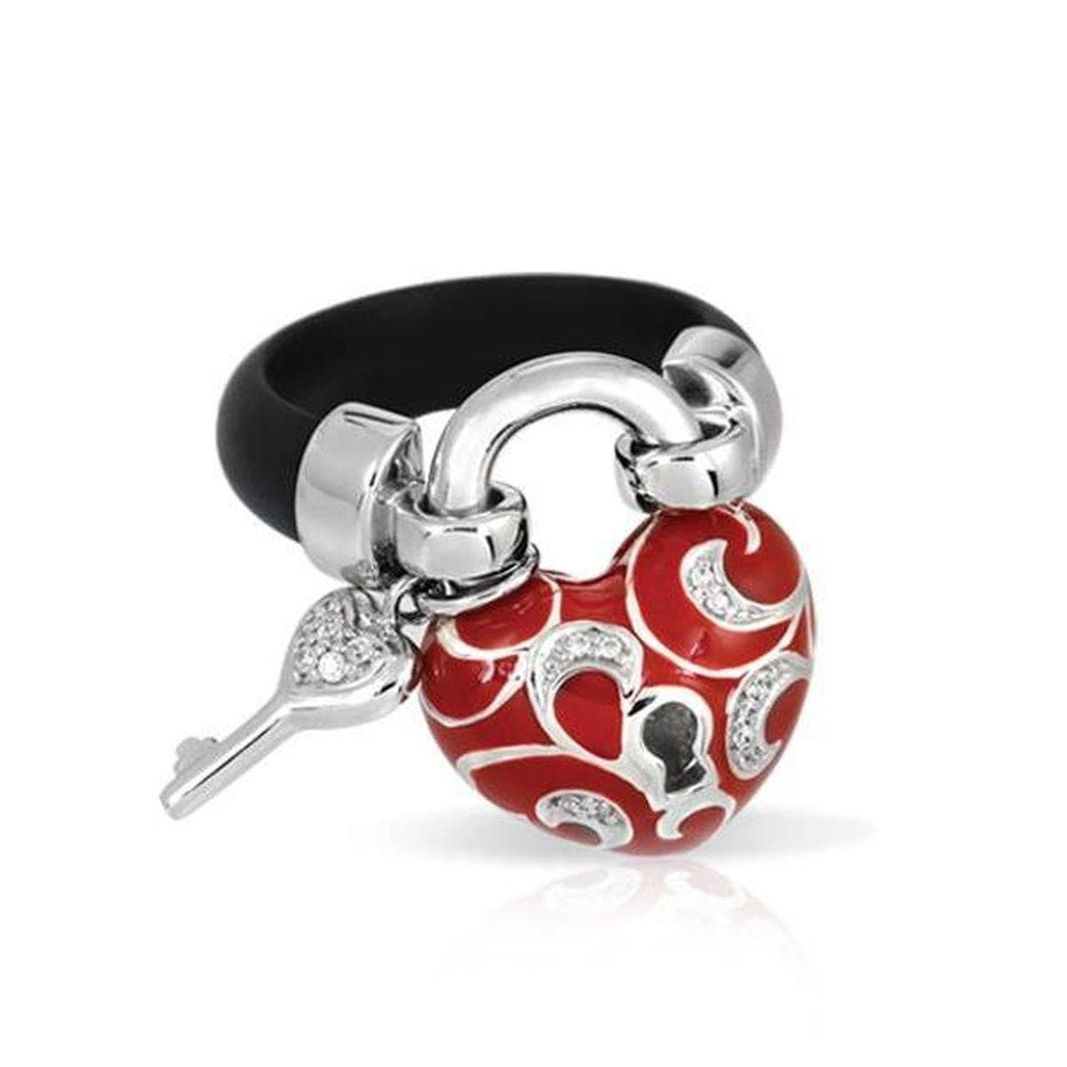 Key to My Heart Red Ring-Belle Etoile-Renee Taylor Gallery