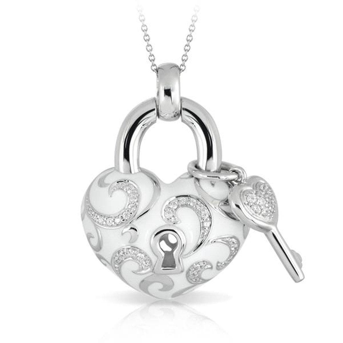 Key to My Heart White Pendant-Belle Etoile-Renee Taylor Gallery