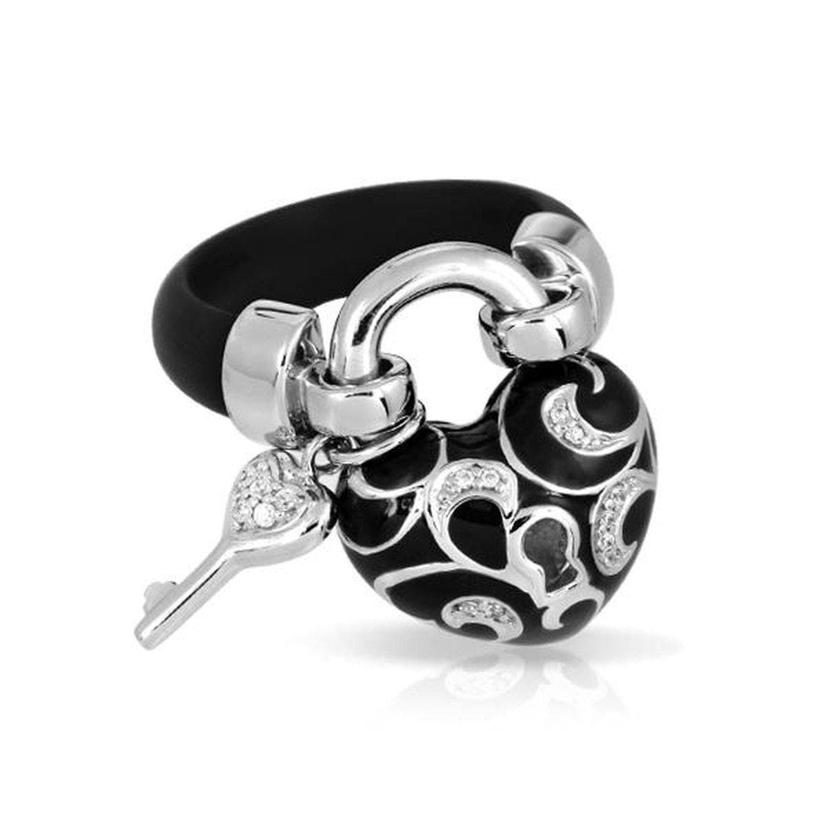 Key to My Heart Black Ring-Belle Etoile-Renee Taylor Gallery