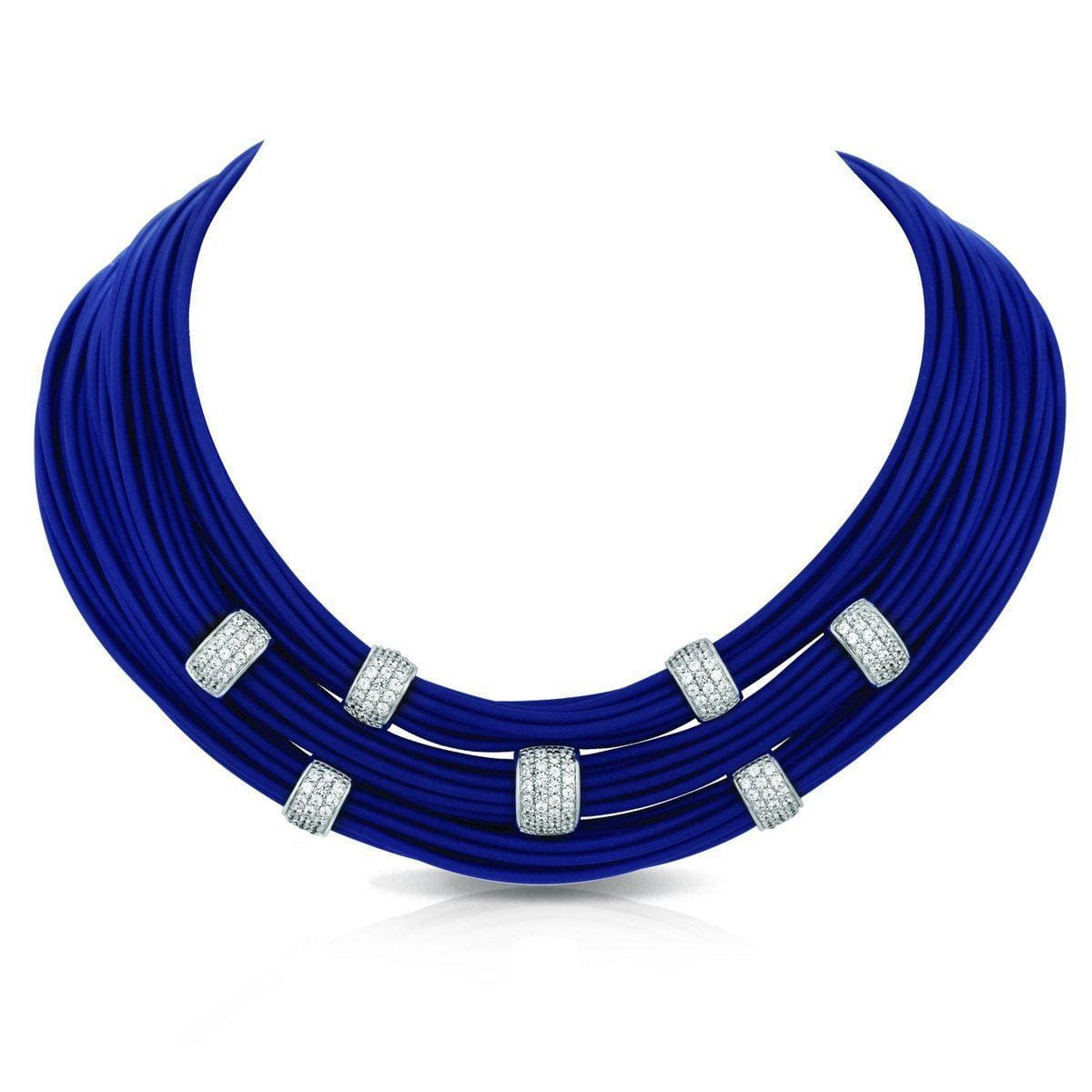 Legato Blue Necklace-Belle Etoile-Renee Taylor Gallery