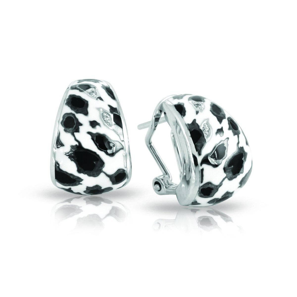 Leopard Black and White Earrings-Belle Etoile-Renee Taylor Gallery