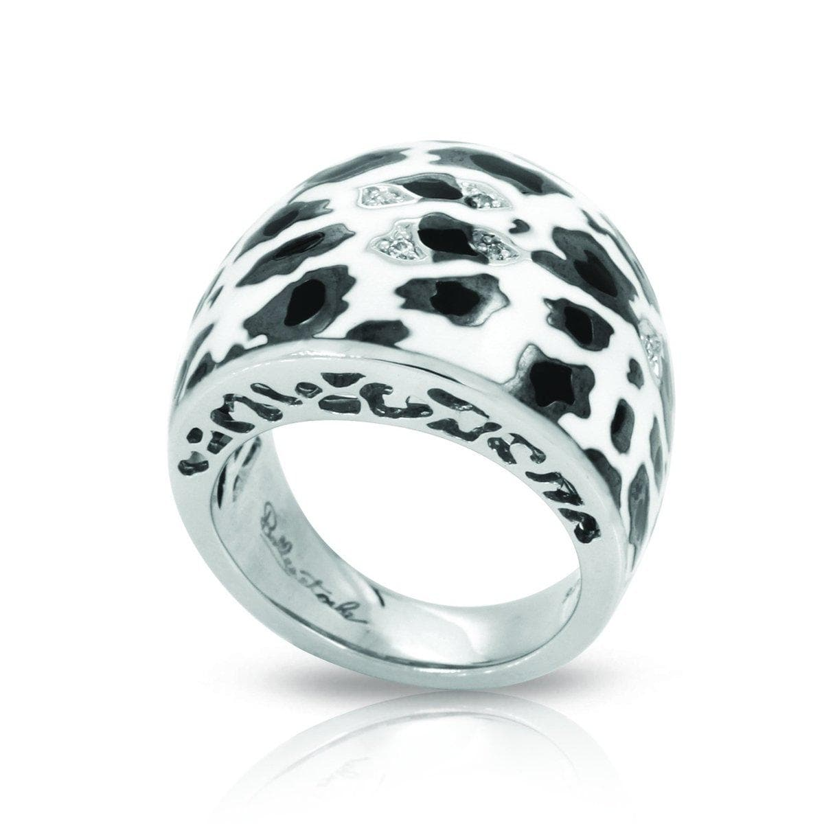 Leopard Black and White Ring-Belle Etoile-Renee Taylor Gallery
