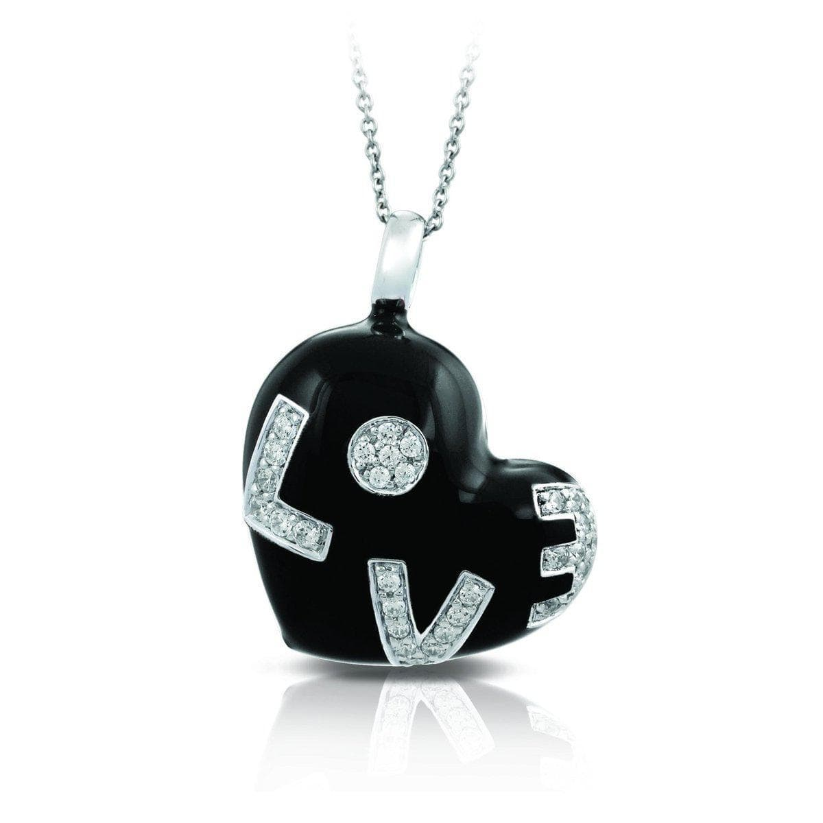 Love Black Pendant-Belle Etoile-Renee Taylor Gallery