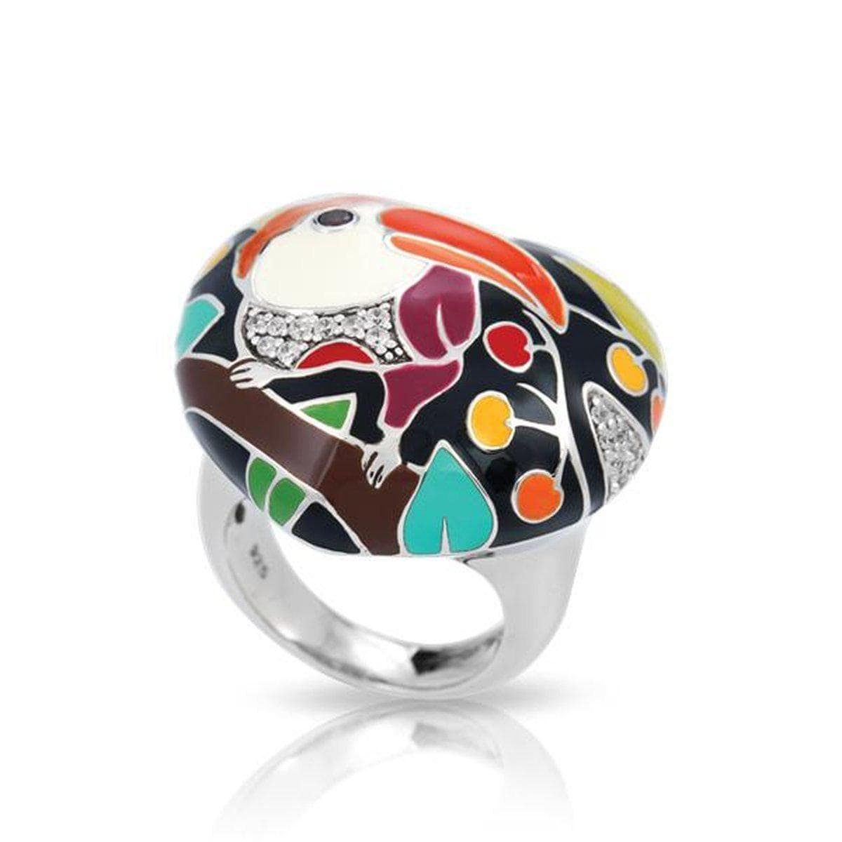 Love Toucan Black Ring-Belle Etoile-Renee Taylor Gallery