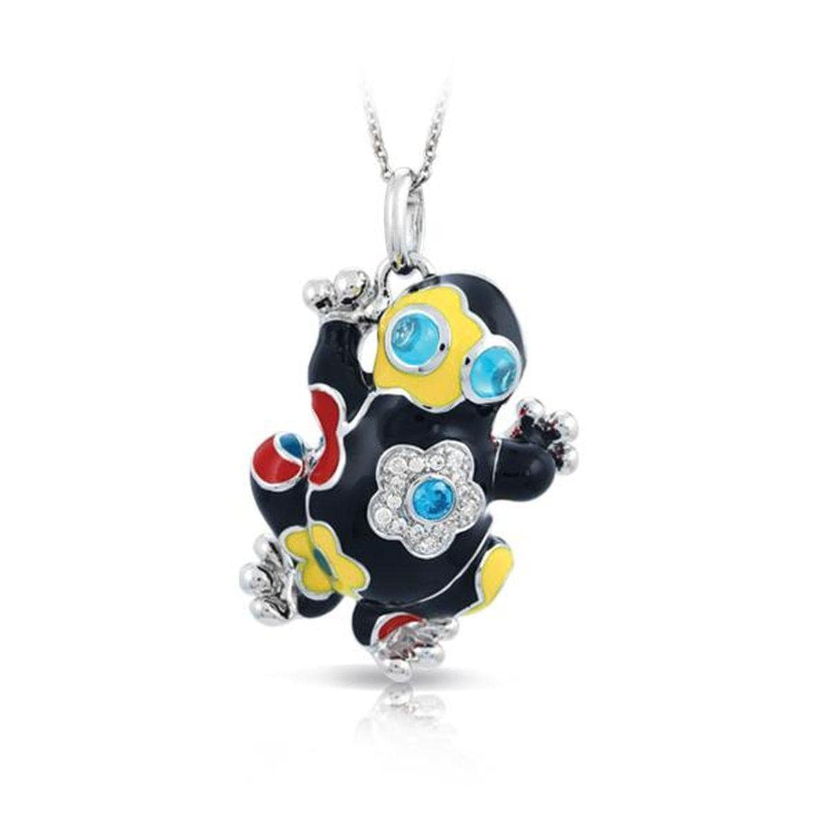 Lucky Frog Black Pendant-Belle Etoile-Renee Taylor Gallery