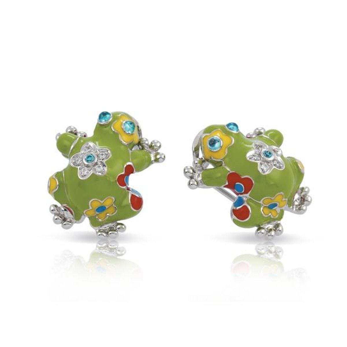Lucky Frog Green Earrings-Belle Etoile-Renee Taylor Gallery
