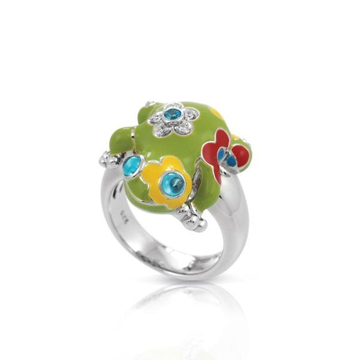 Lucky Frog Green Ring-Belle Etoile-Renee Taylor Gallery