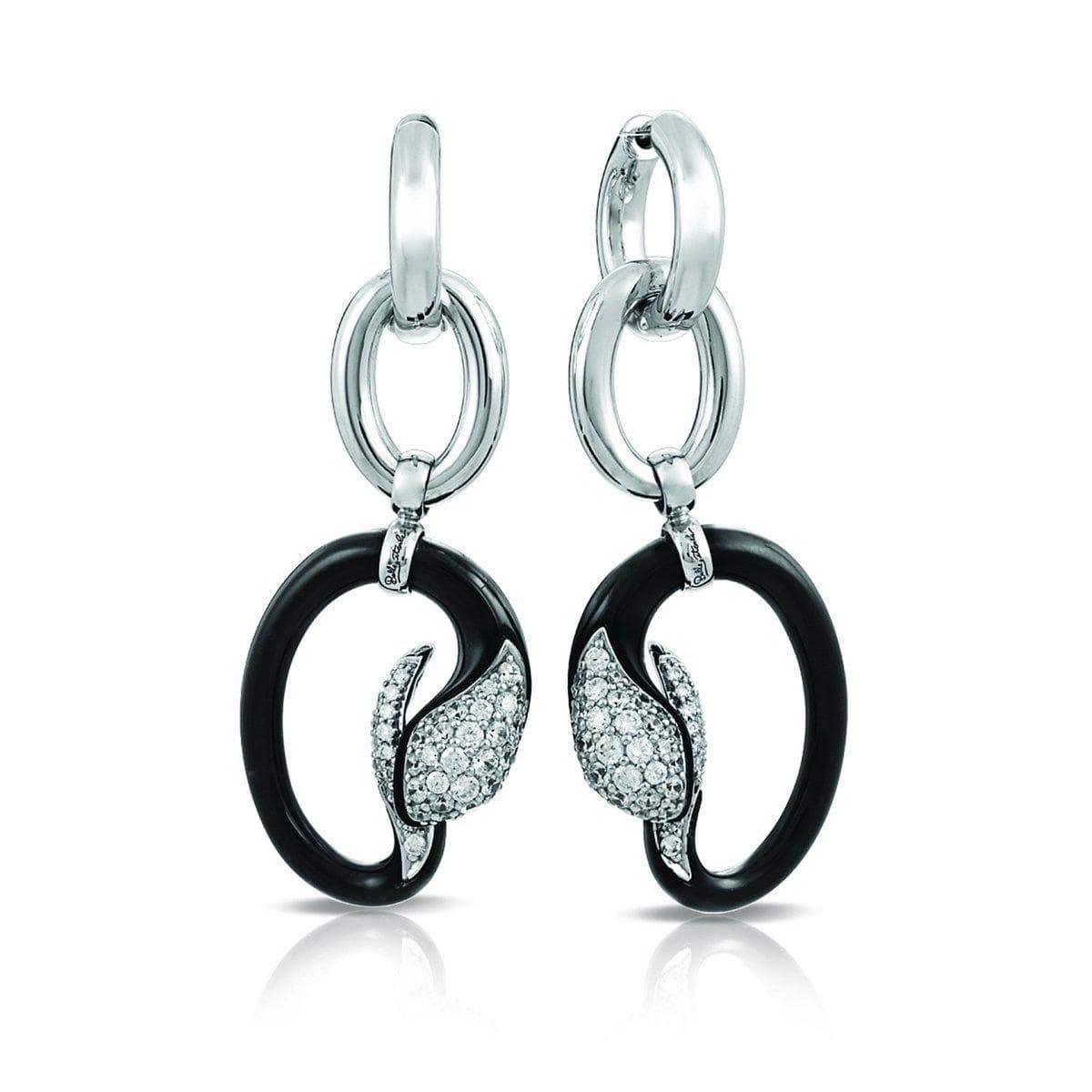 Mamba Black Earrings-Belle Etoile-Renee Taylor Gallery