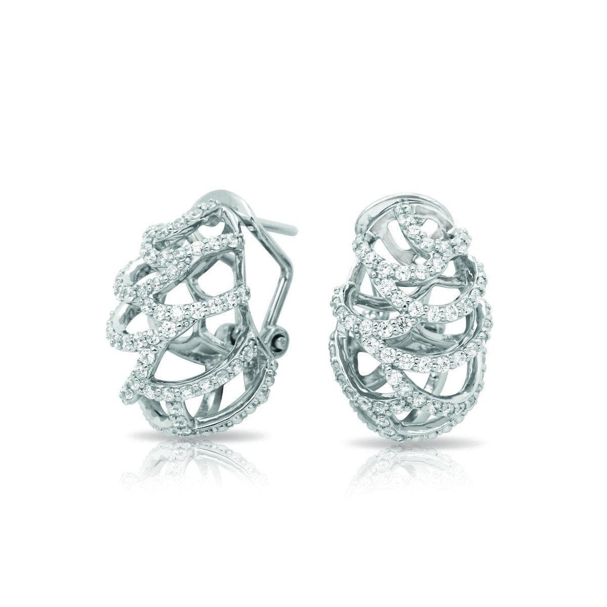 Monaco White Earrings-Belle Etoile-Renee Taylor Gallery