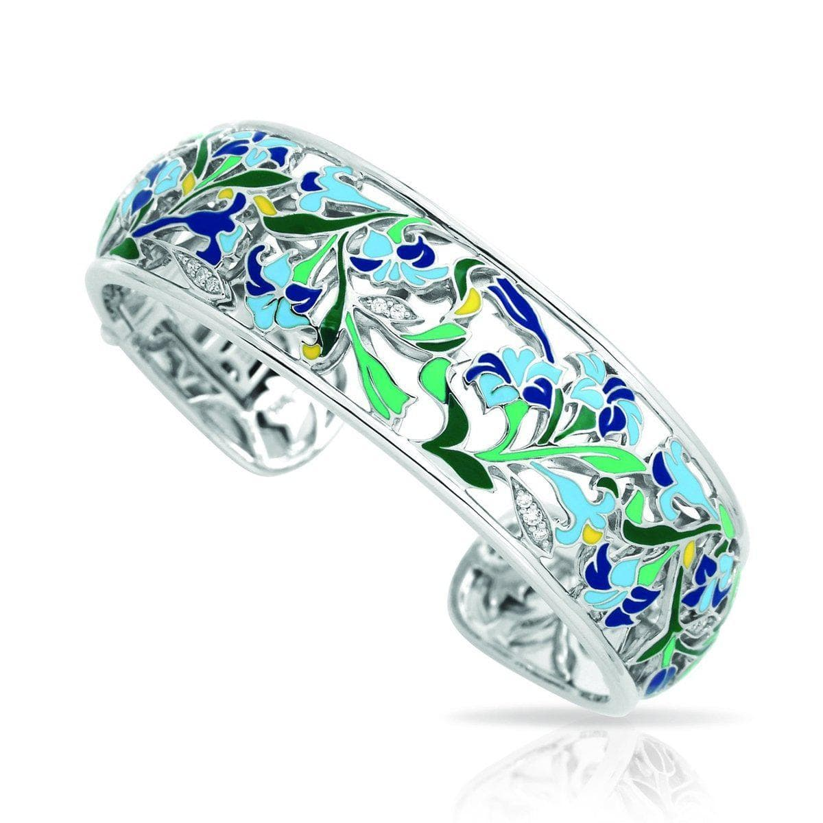 Morning Glory Blue Bangle-Belle Etoile-Renee Taylor Gallery