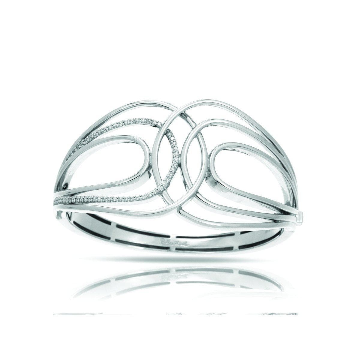 Onda Silver Bangle-Belle Etoile-Renee Taylor Gallery