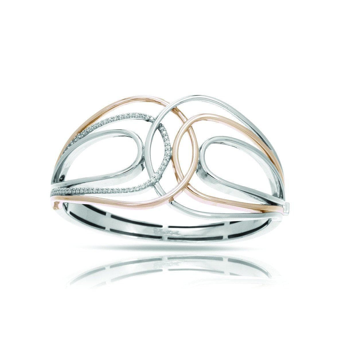 Onda Silver and Rose Bangle-Belle Etoile-Renee Taylor Gallery
