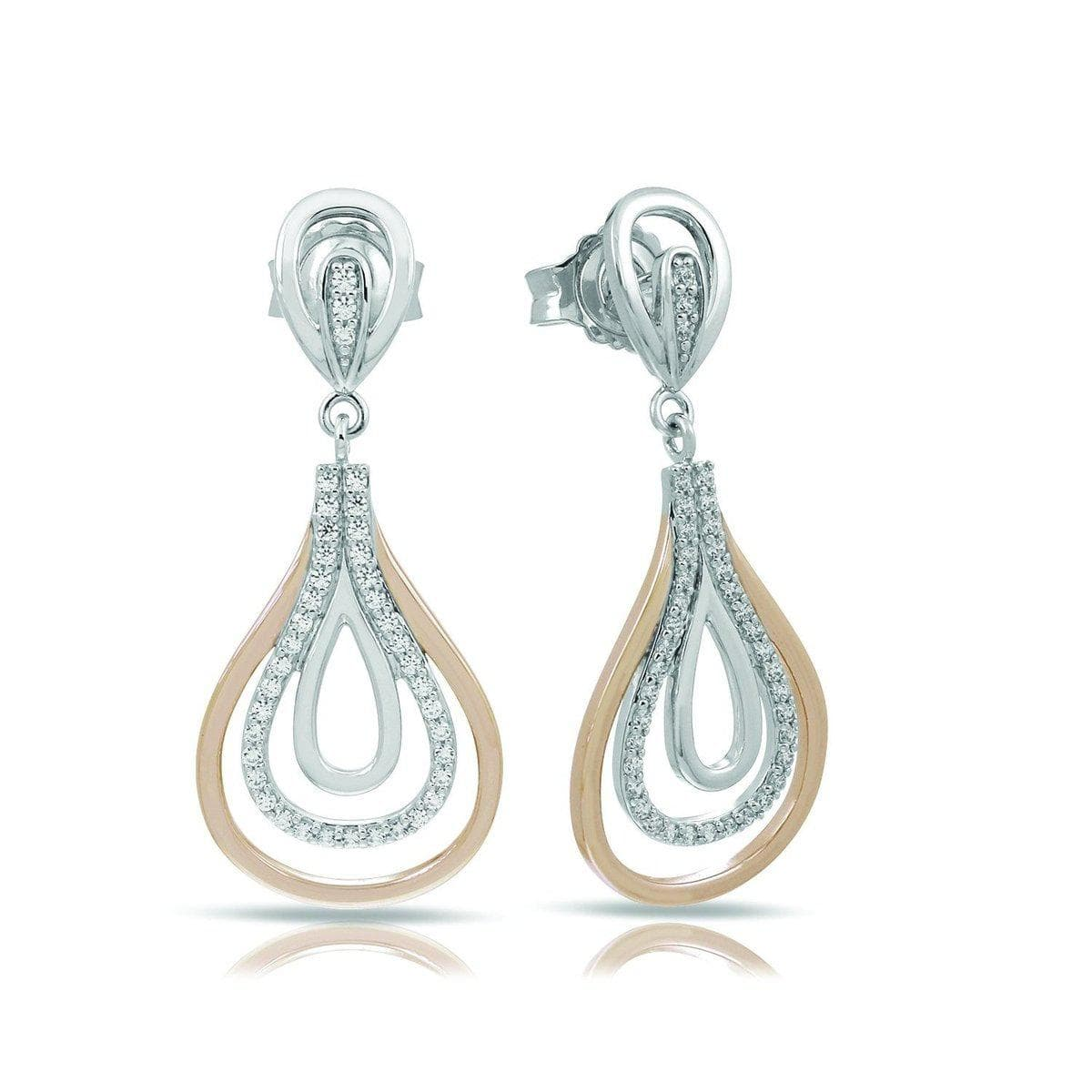Onda Silver and Rose Earrings-Belle Etoile-Renee Taylor Gallery