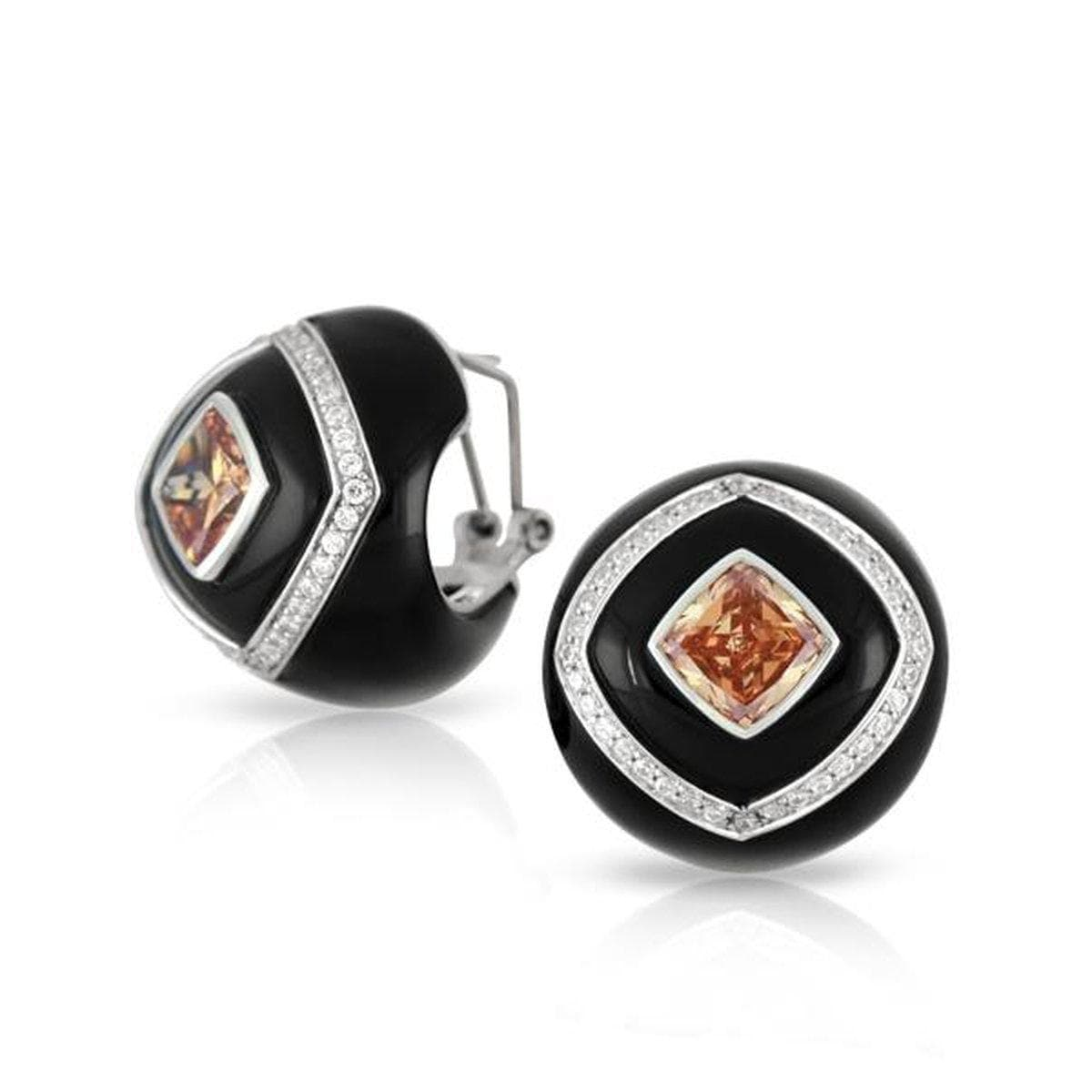 Oracle Black Earrings-Belle Etoile-Renee Taylor Gallery