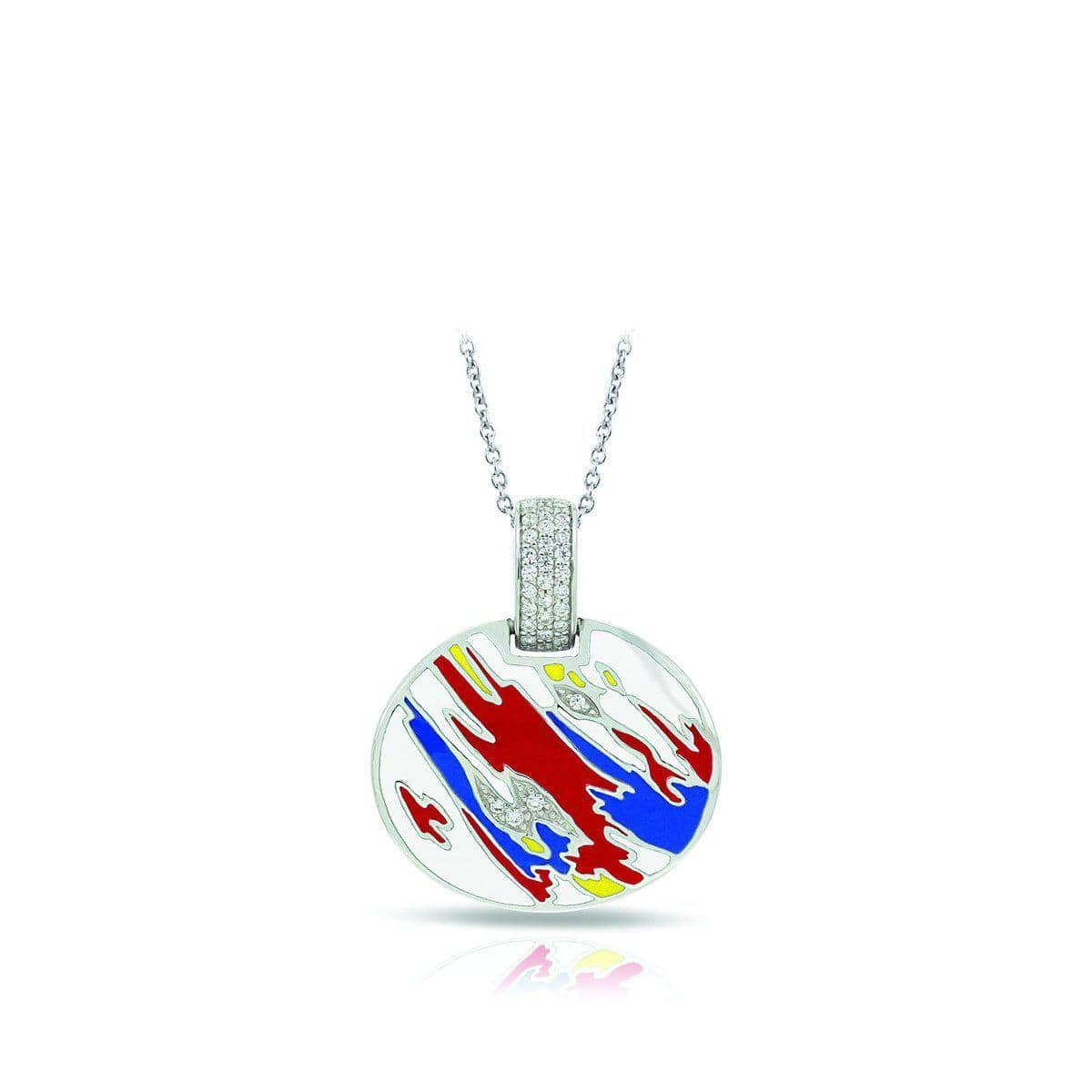 Palette Red, Blue, and Yellow Pendant-Belle Etoile-Renee Taylor Gallery