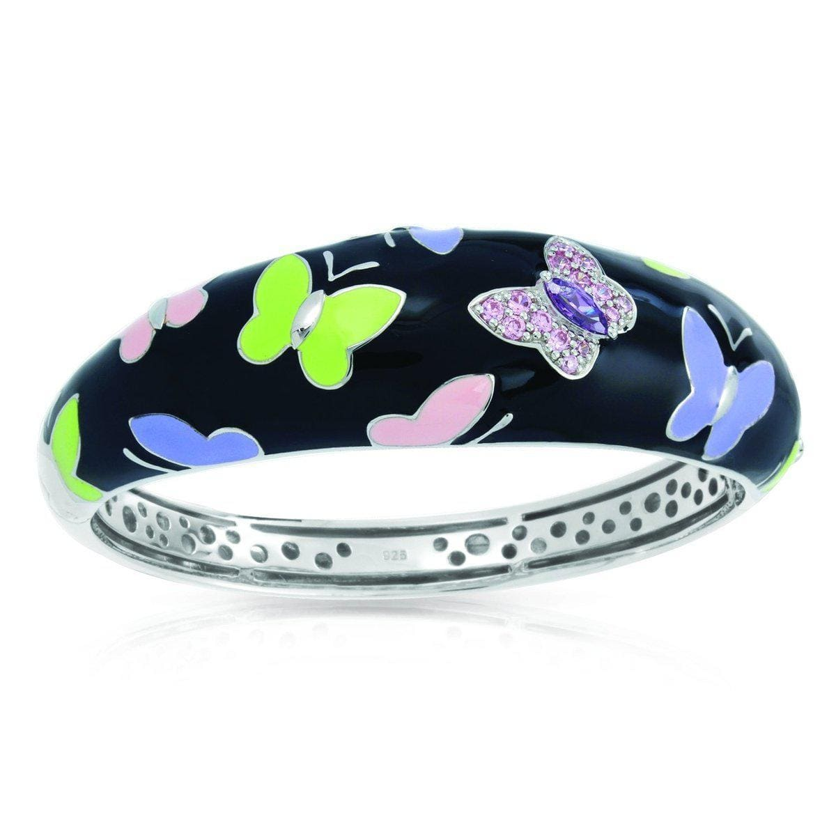 Papillon Black Bangle-Belle Etoile-Renee Taylor Gallery