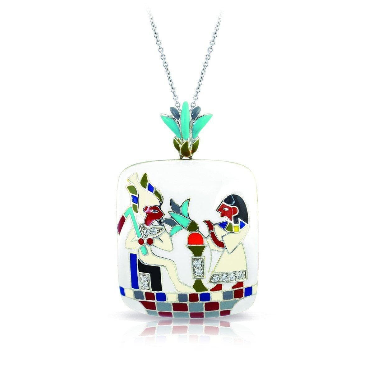 Papyrus White Pendant-Belle Etoile-Renee Taylor Gallery