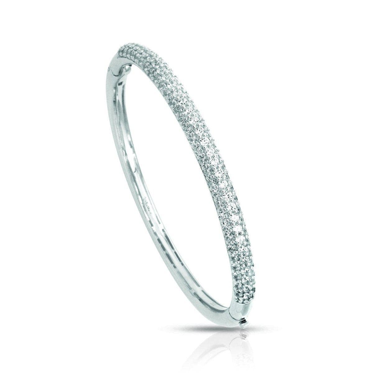 pave White Bangle-Belle Etoile-Renee Taylor Gallery