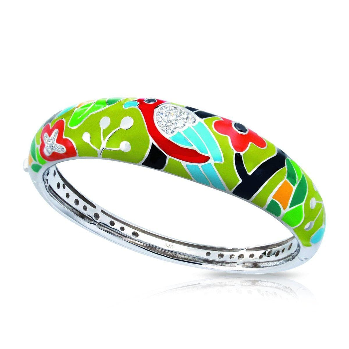 Perroquet Green Bangle-Belle Etoile-Renee Taylor Gallery